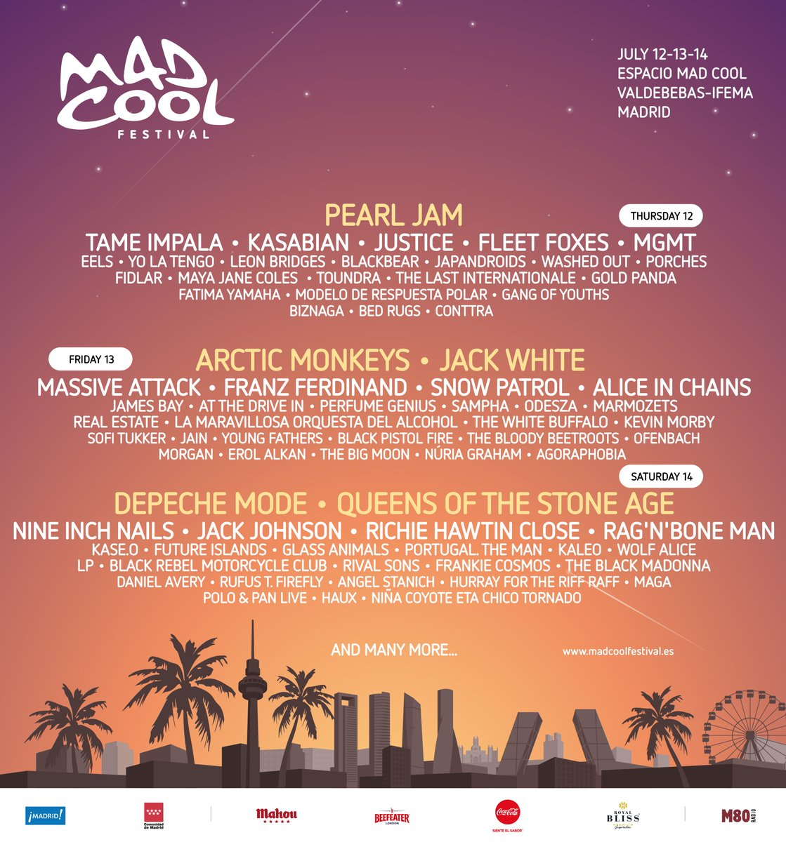 Arctic Monkeys se une al cartel del Mad Cool Festival