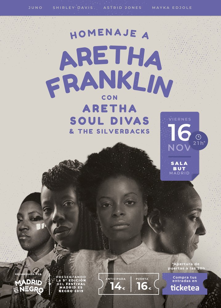 Aretha Soul Divas & The Silverbacks actúa en Madrid