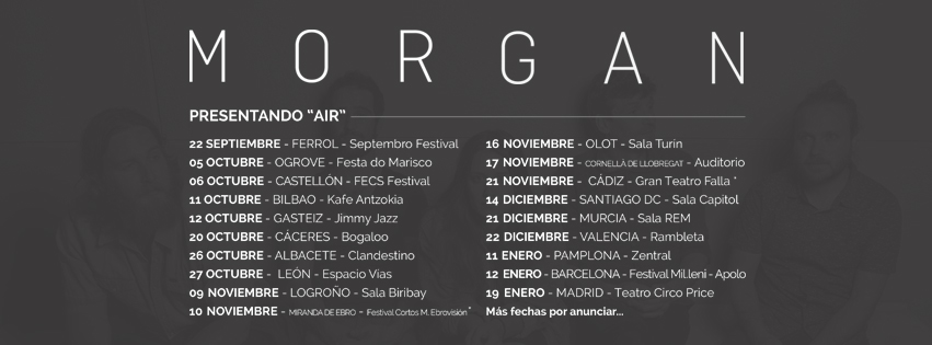 Morgan muestra parte de su Air Tour