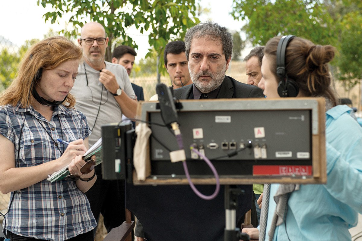 Mike Leigh y Louis Garrel en la Academia de Cine