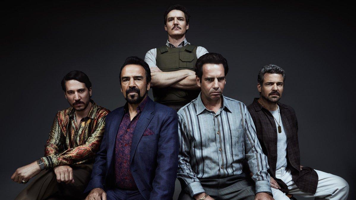 Diego Luna y Michael Peña, en la cuarta temporada de Narcos