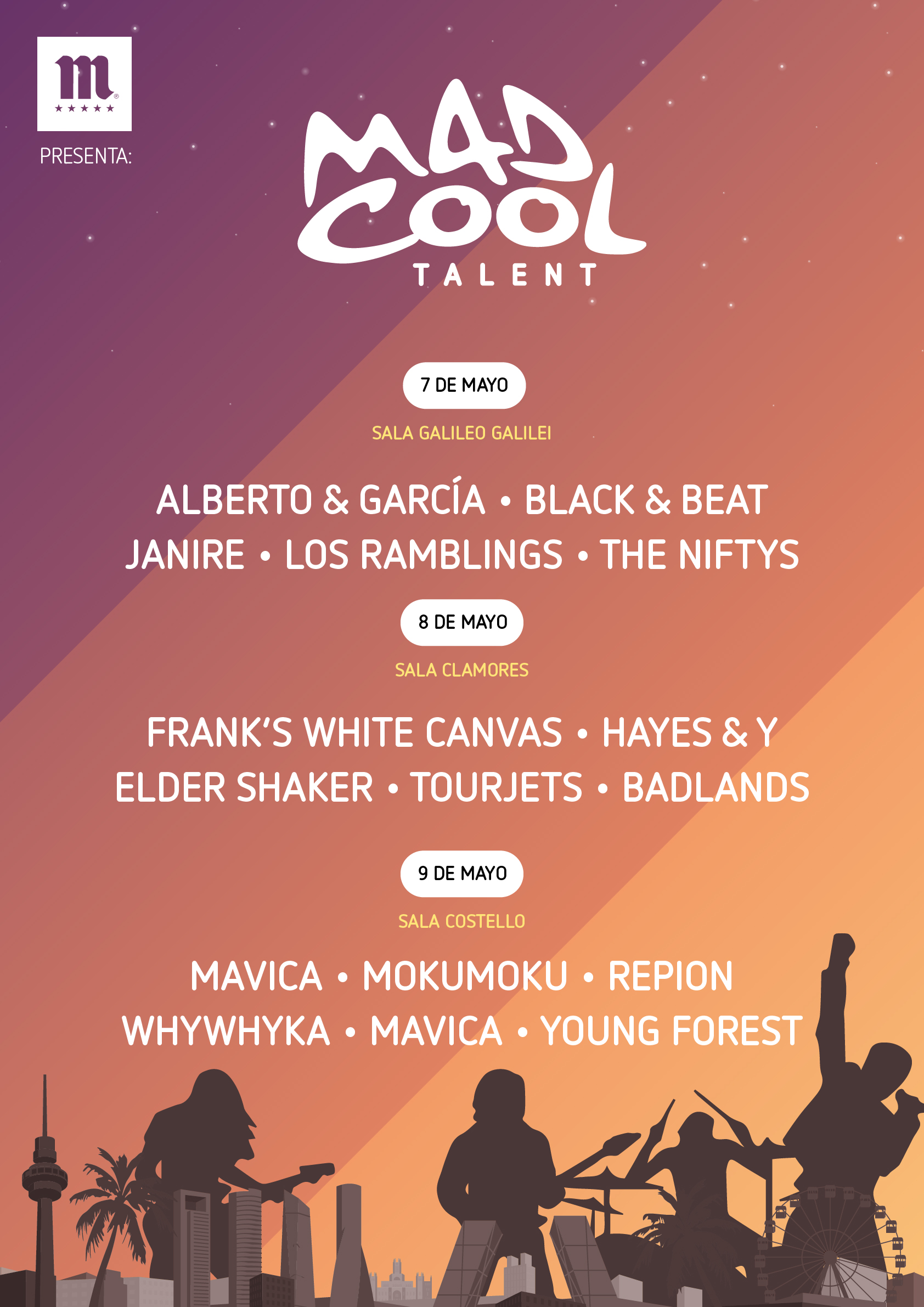 Mad Cool Talent anuncia sus tres conciertos