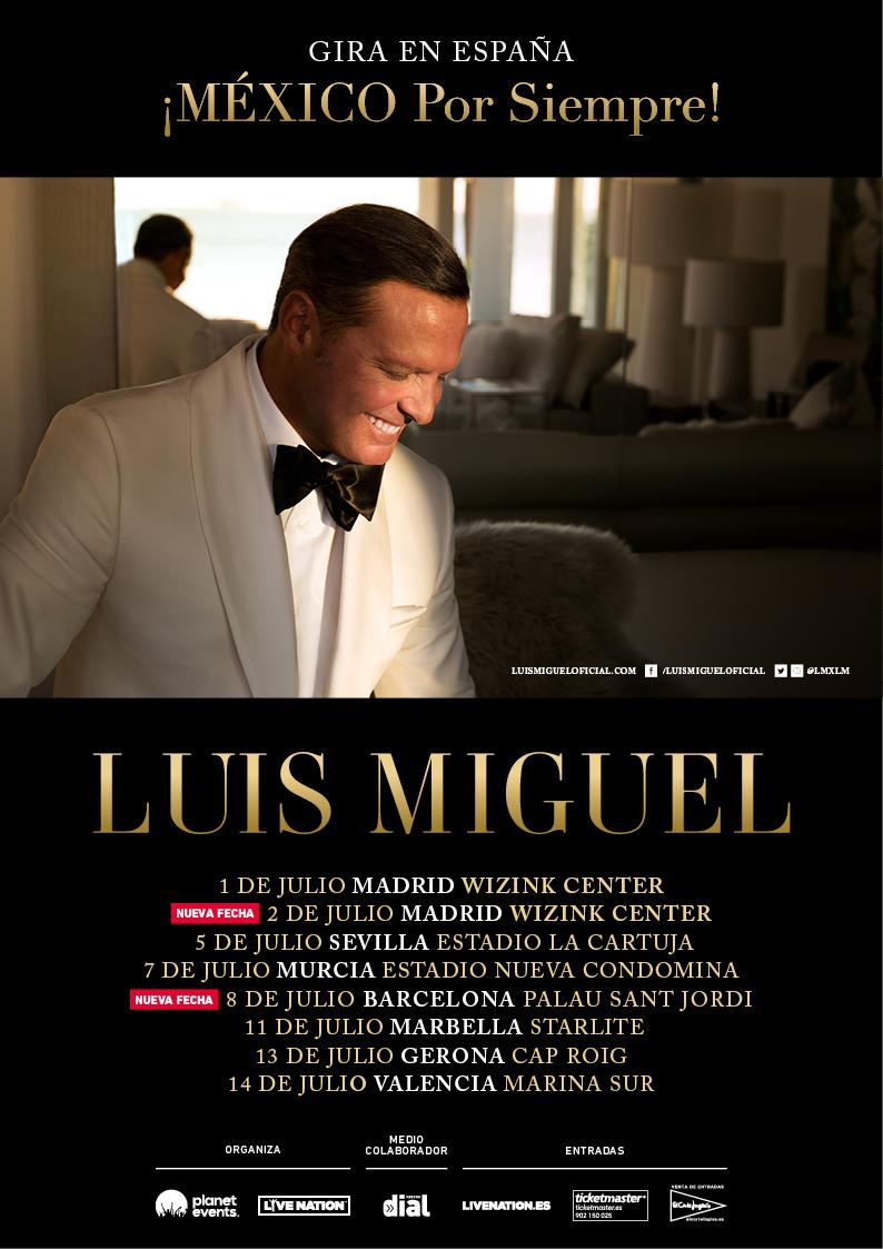 Luis Miguel completa el cartel de su gira por España