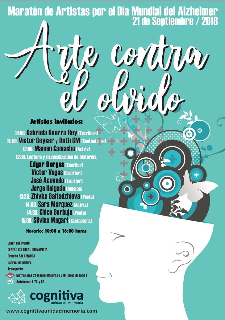 Arte contra el olvido, un maratón de artistas en el Día Mundial del Alzheimer
