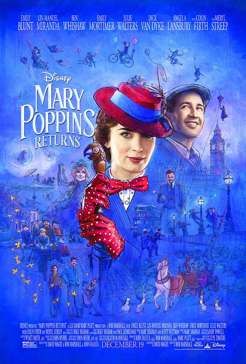 El regreso de Mary Poppins se estrena en diciembre