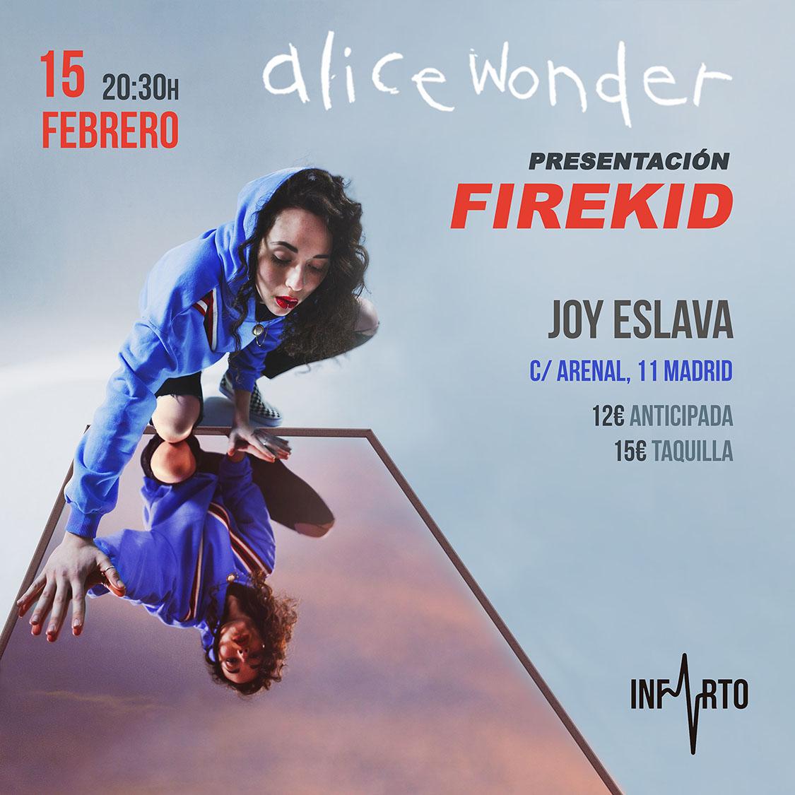 Alice Wonder publica su primer disco, 'Firekid'