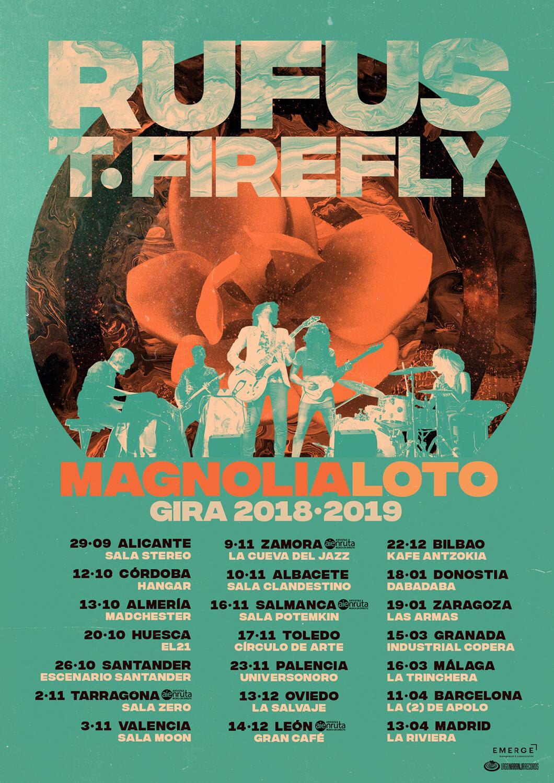 Rufus T. Firefly ofrece nuevas fechas de su gira