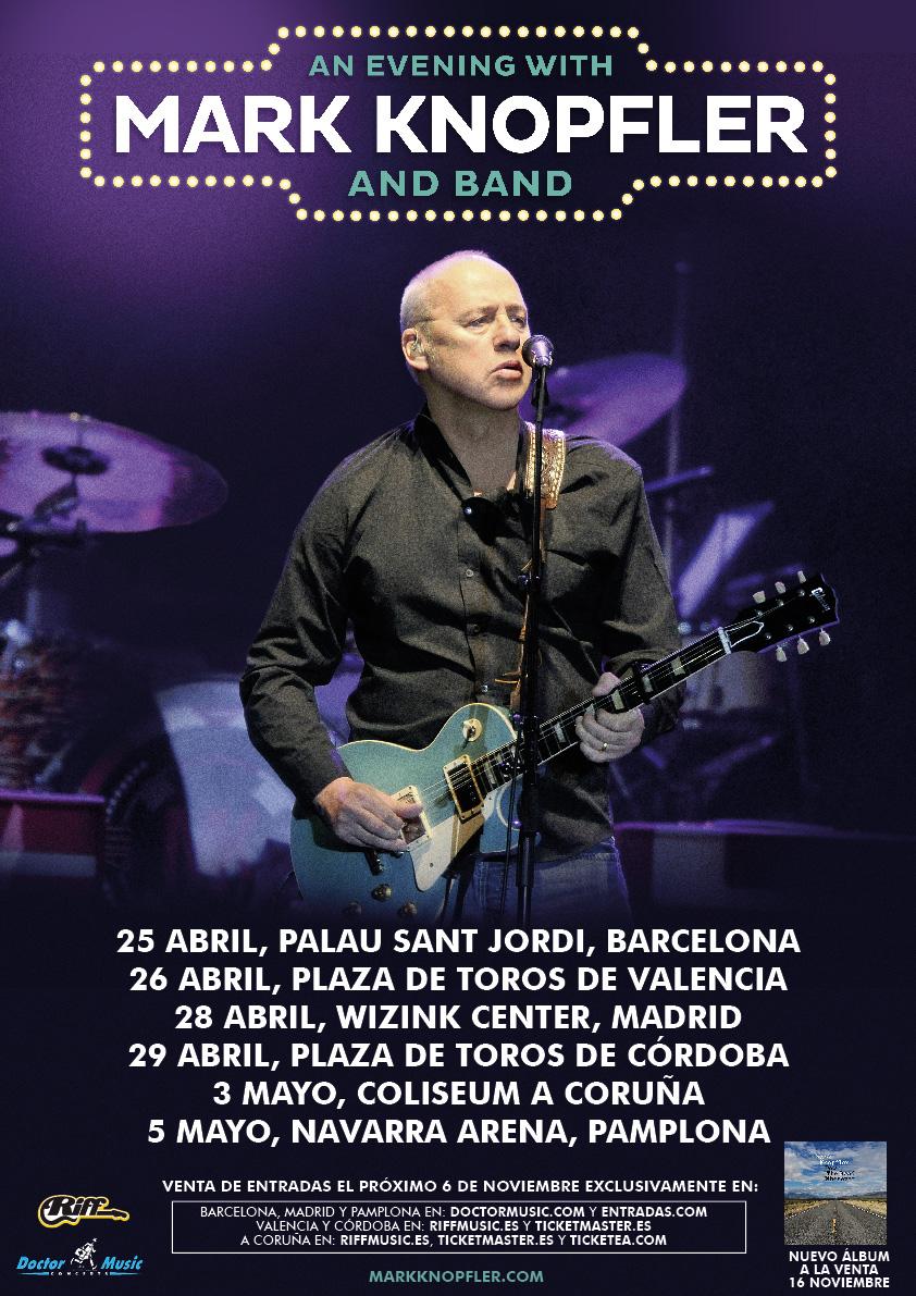 Mark Knopfler vuelve a España con nueva gira en 2019