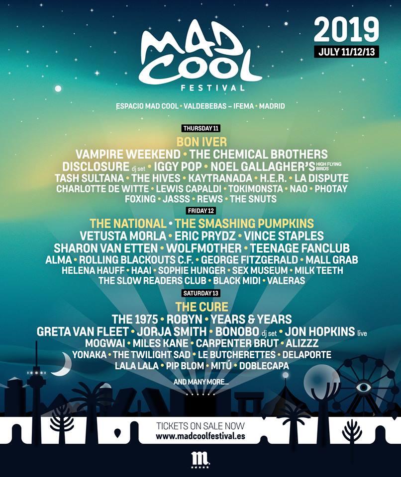 Mad Cool Festival ofrece nuevos nombres para su cita de 2019