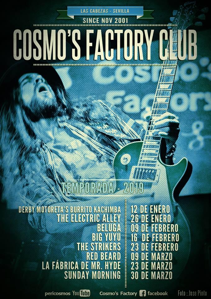 El Cosmo's Factory Club publica su agenda para 2019
