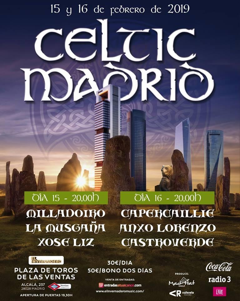 El Festival Celtic Madrid se celebra en febrero
