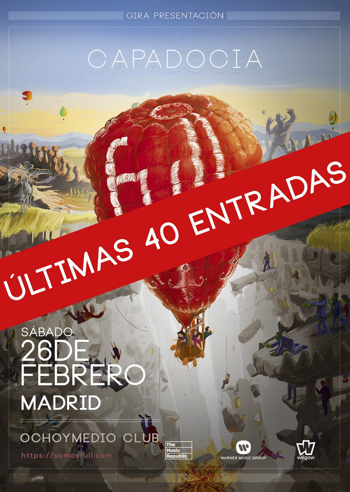 La espectacular gira de Full llega a Madrid este fin de semana