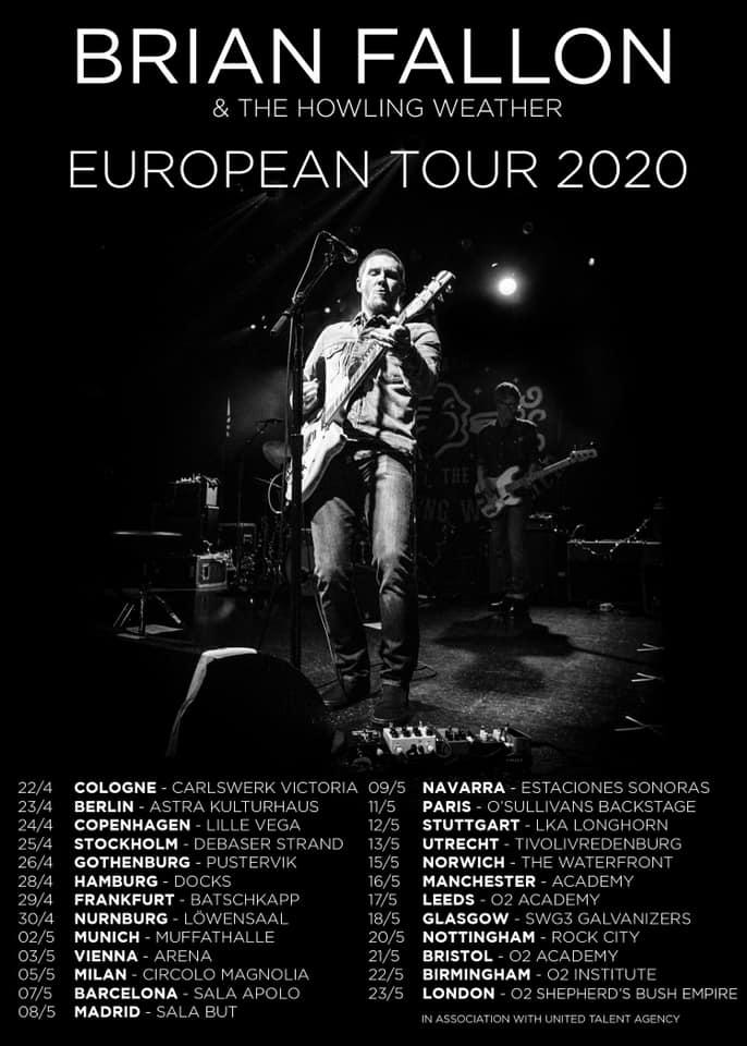 Brian Fallon anuncia gira europea para 2020