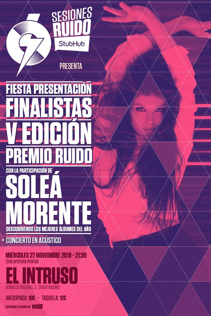 Soleá Morente, encargada de anunciar los finalistas del Premio Ruido