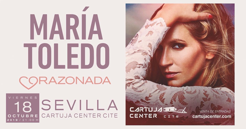 María Toledo retoma en octubre su gira Corazonada