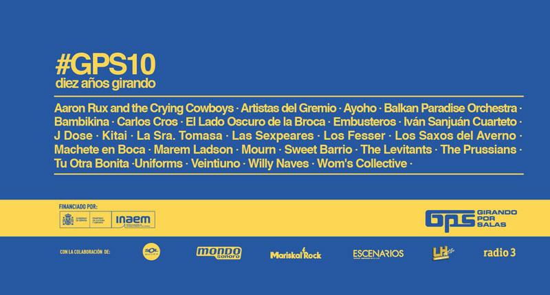 Seleccionados los grupos y solistas para #GPS10 de Girando Por Salas