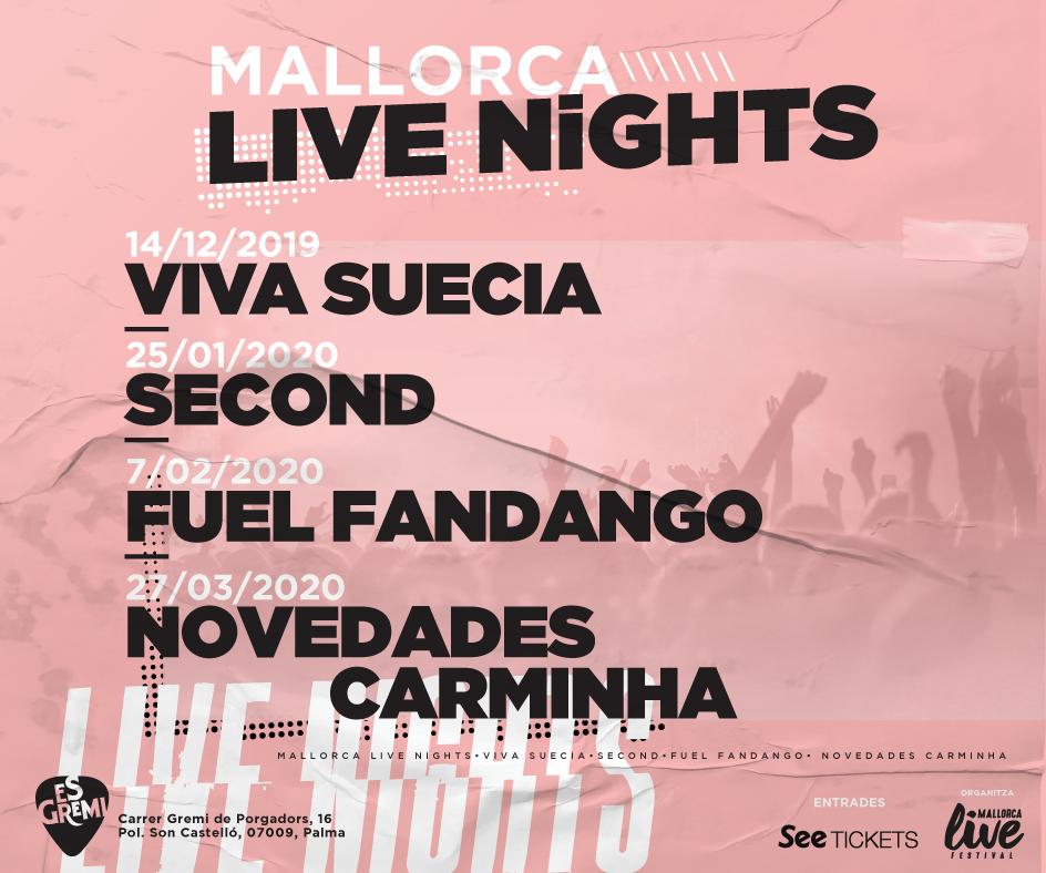 El Mallorca Live Nights anuncia su cartel 2019/2020