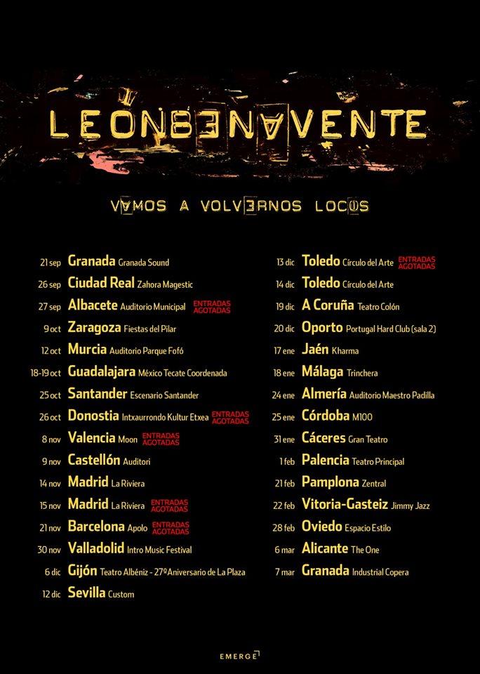 León Benavente pasa por Sevilla con su gira 'Vamos a volvernos locos'