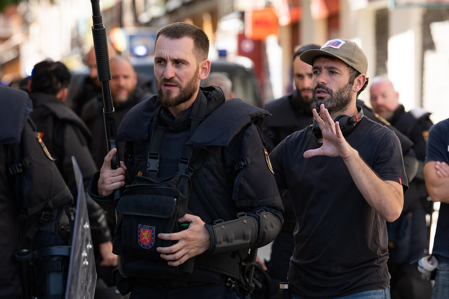 Antidisturbios de Rodrigo Sorogoyen, en la recta final de su rodaje