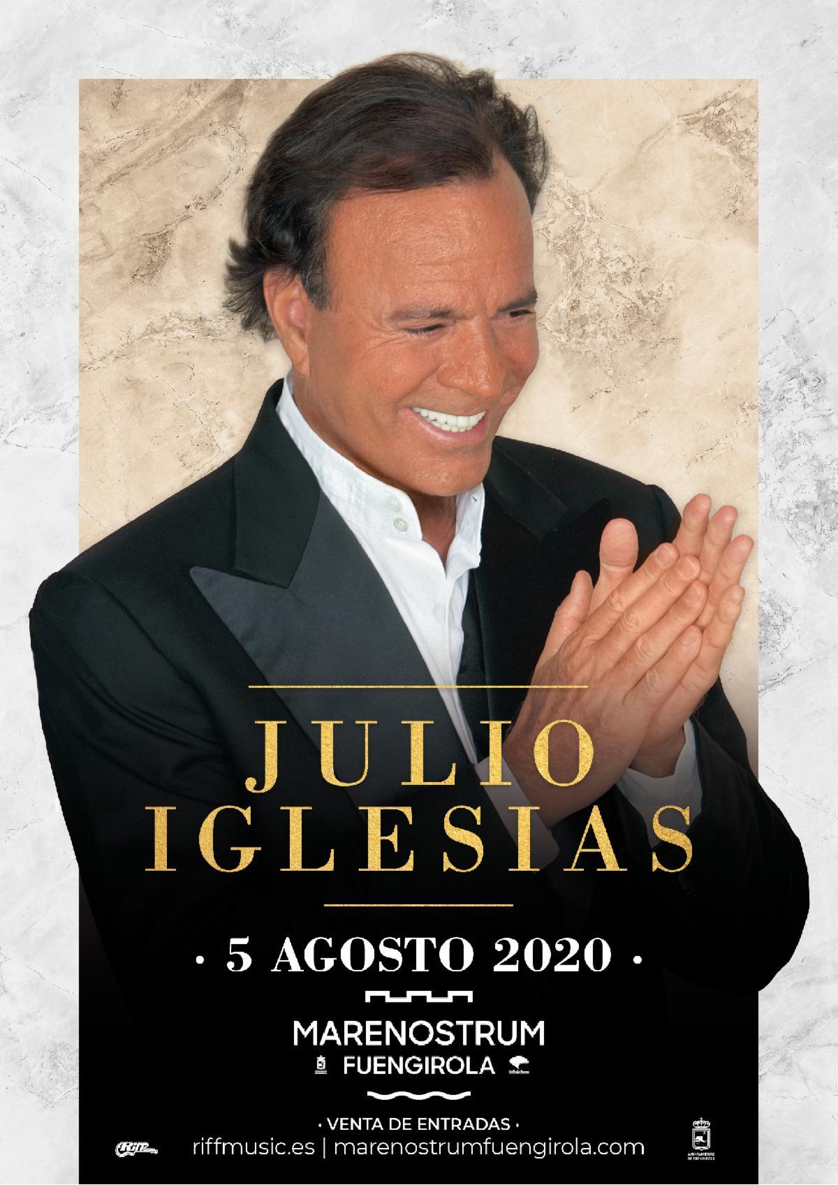 Julio Iglesias celebra su 50 aniversario en la música en el Marenostrum Fuengirola