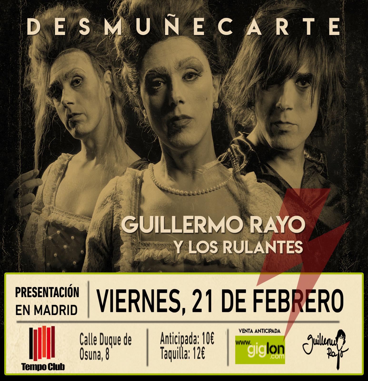 Guillermo Rayo presenta en Madrid 'DesmuñecArte'