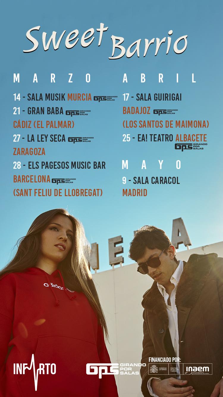 Sweet Barrio presenta su álbum en el ciclo Girando por Salas