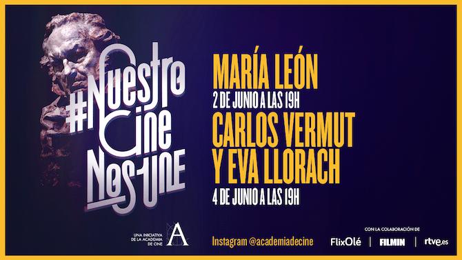 María León, Carlos Vermut y Eva Llorach, en #NuestroCineNosUne