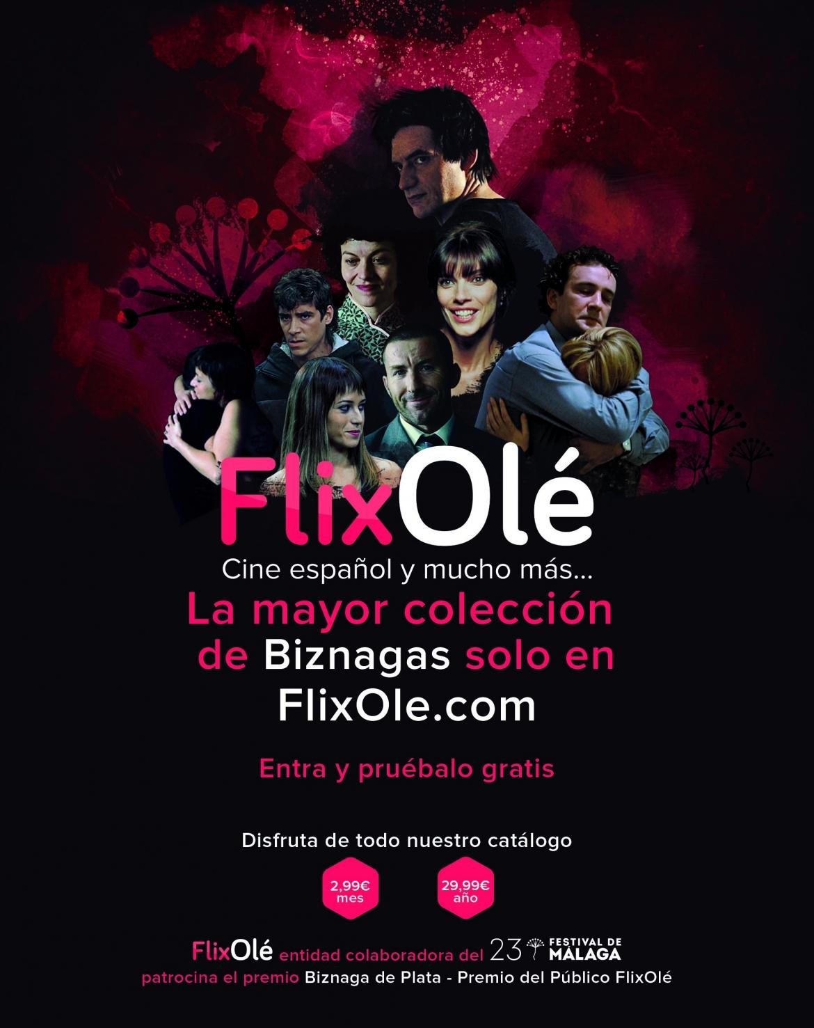 Festival de Málaga y FlixOlé se alían en la 23 edición para la difusión del cine español