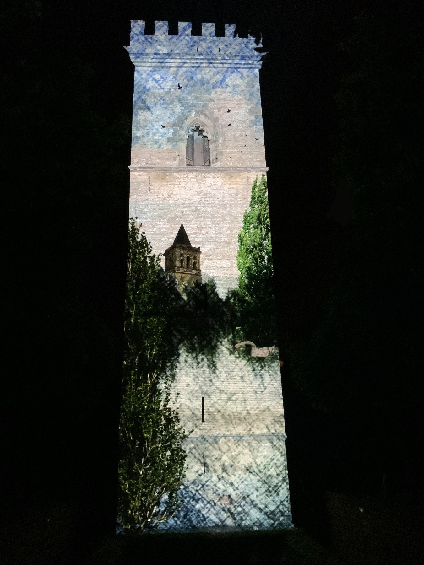 Llega a la Torre de Don Fadrique el vídeo mapping sobre los Bécquer