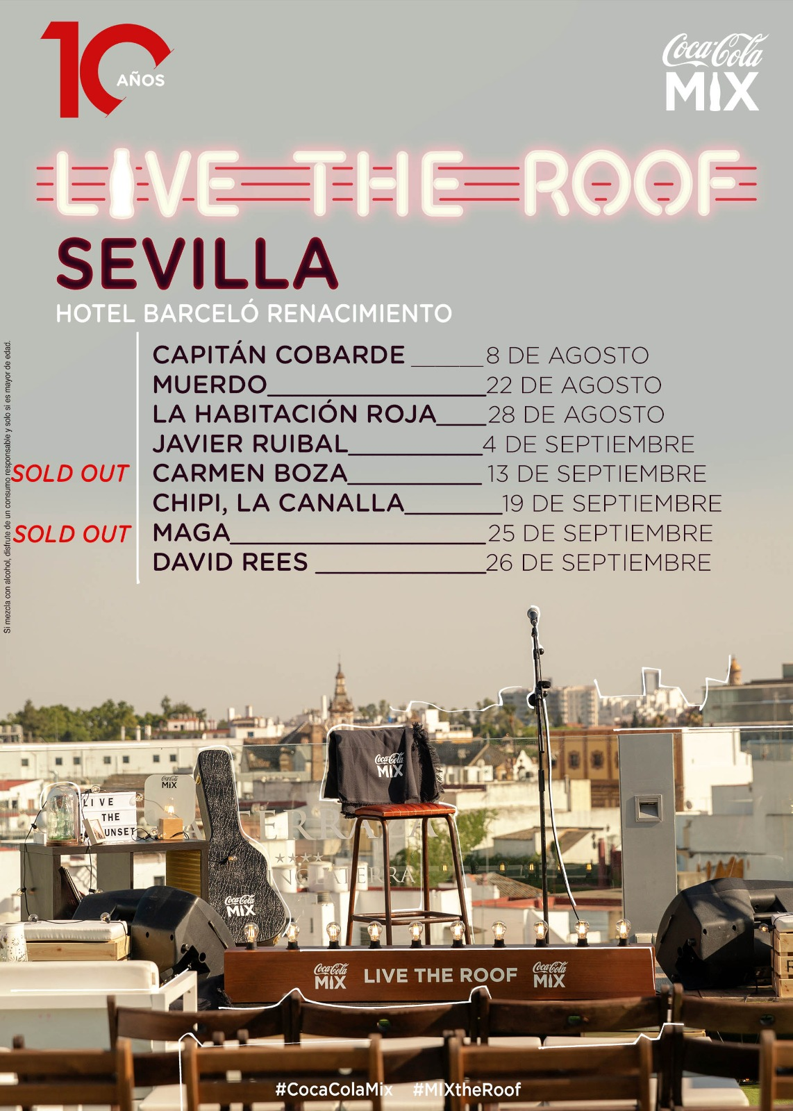 Sevilla celebra el décimo aniversario del ciclo Live The Roof