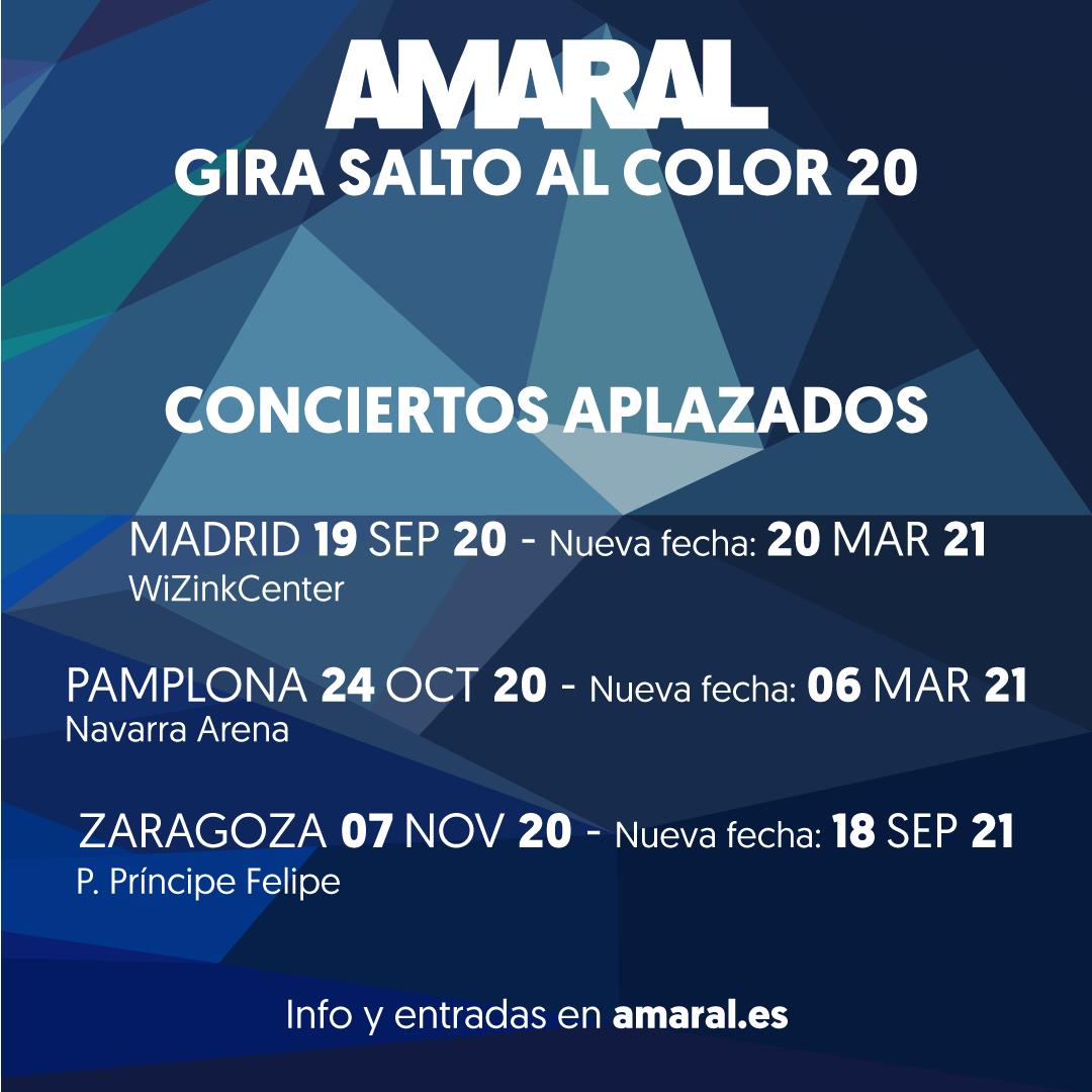 Amaral aplaza sus conciertos de Madrid, Pamplona y Zaragoza debido a la Covid-19